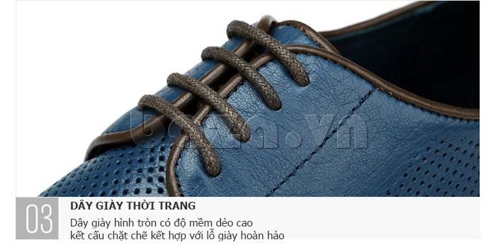 Giày da nam đục lỗ thời trang Olunpo XBS1501 - dây giày thời trang