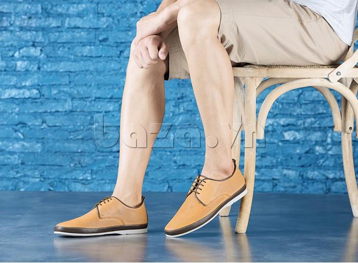Giày da nam đục lỗ thời trang Olunpo XBS1501 dễ dàng phối đồ