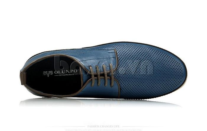 Giày da nam đục lỗ thời trang Olunpo XBS1501 cuốn hút