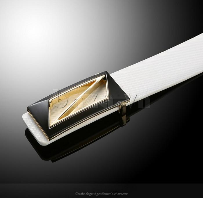 Mặt khóa dây lưng chất liệu hợp kim được mạ sáng bóng, chống gỉ, chống Oxy hóa