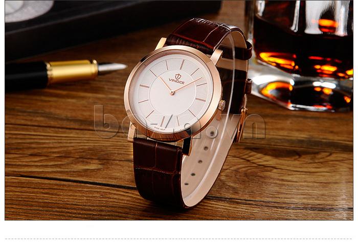 Đồng hồ nam siêu mỏng Vinoce V8350G thiết kế cuốn hút