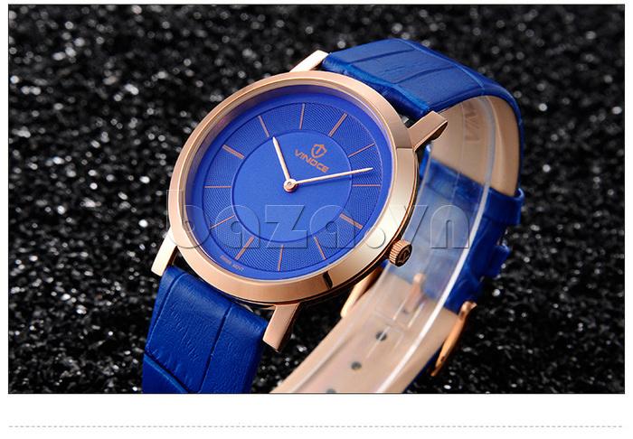 Đồng hồ nam siêu mỏng Vinoce V8350G thiết kế bền