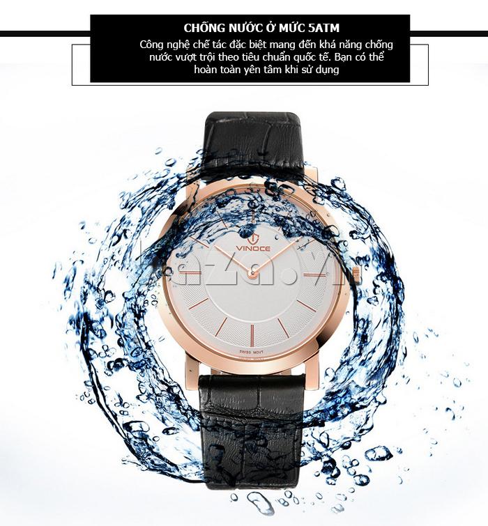 Đồng hồ nam siêu mỏng Vinoce V8350G nổi bật