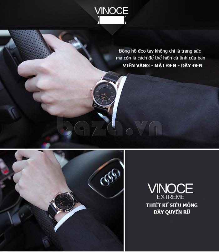 Đồng hồ nam siêu mỏng Vinoce V8350G chất lượng