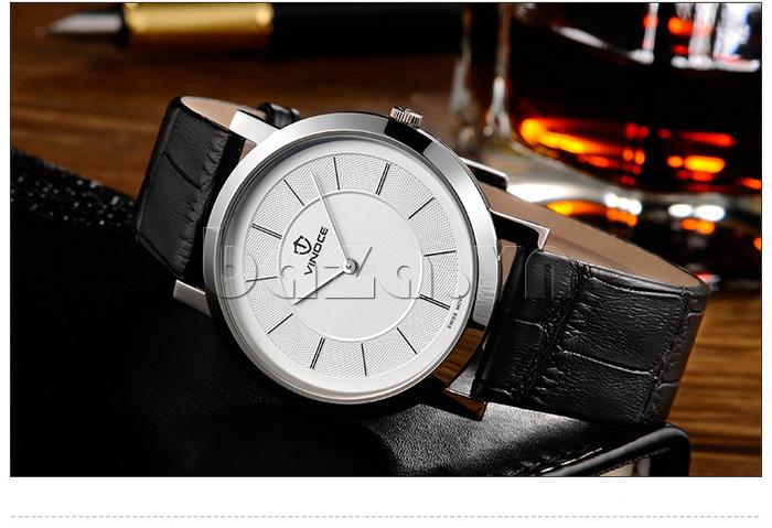 Đồng hồ nam siêu mỏng Vinoce V8350G thiết kế tinh tế