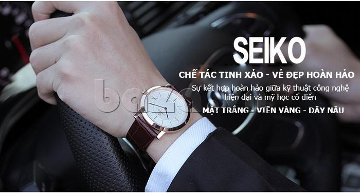 Đồng hồ nam siêu mỏng Vinoce V8350G bền