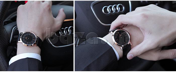 Đồng hồ nam siêu mỏng Vinoce V8350G chính hãng