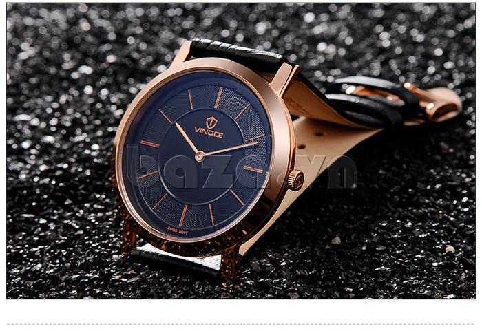 Đồng hồ nam siêu mỏng Vinoce V8350G thiết kế thời trang