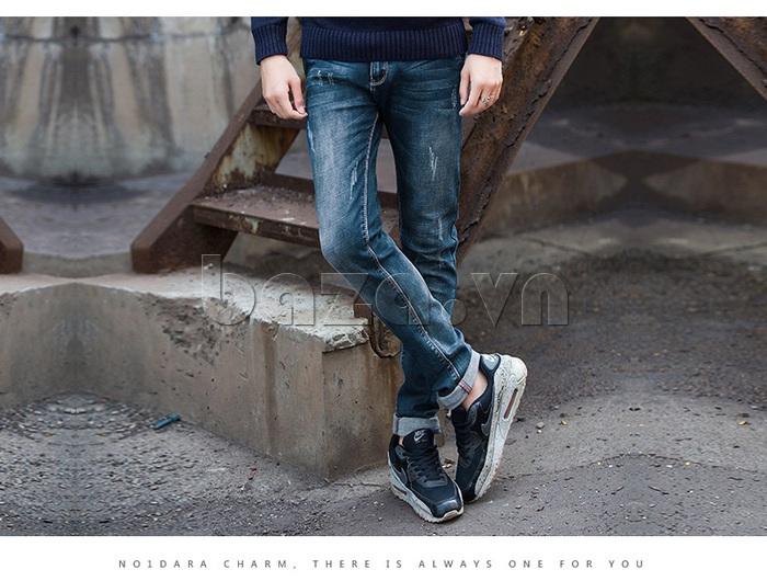 Quần jeans nam mài xước No1dara KZ11007  thoải mái