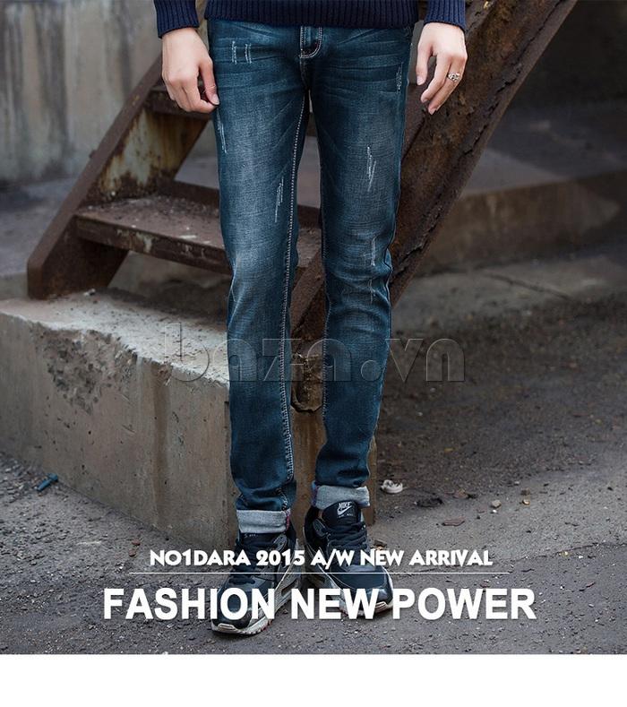 Quần jeans nam mài xước No1dara KZ11007