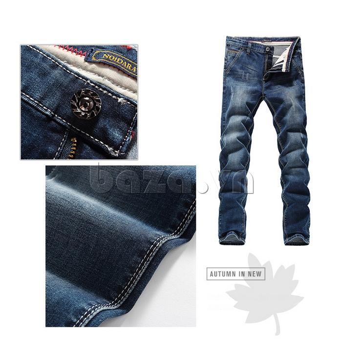 Quần jeans nam mài xước No1dara KZ11007  sang trọng