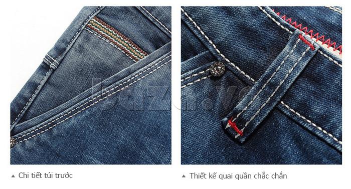 Quần jeans nam mài xước No1dara KZ11007  năng động