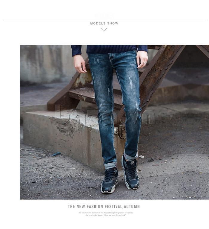 Quần jeans nam mài xước No1dara KZ11007  độc đáo