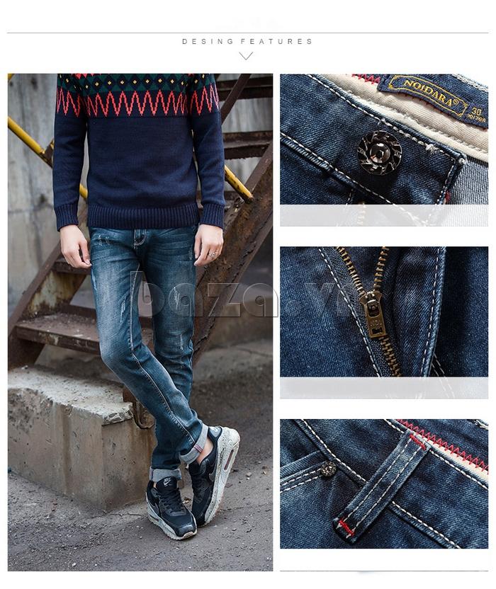 Quần jeans nam mài xước No1dara KZ11007  cao cấp