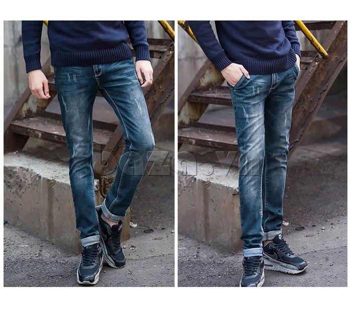 Quần jeans nam mài xước No1dara KZ11007  mới lạ