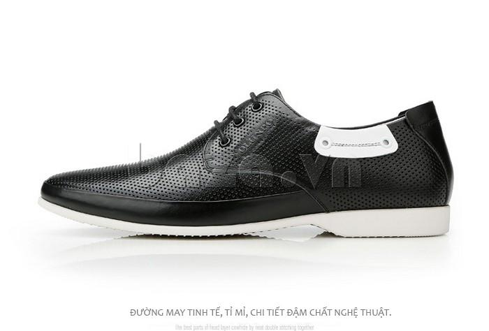 đường may của giày nam Olunpo XHT1402 tinh tế, tỉ mỉ, đậm chất nghệ thuật