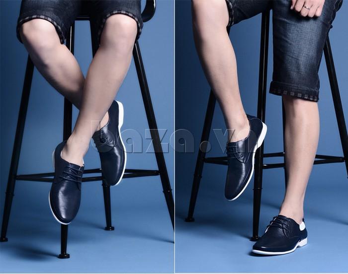 Diện short ngắn trẻ trung với giày nam Olunpo XHT1402