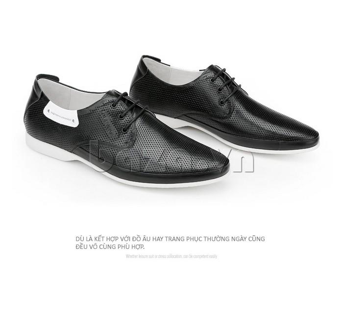 giày nam Olunpo XHT1402 thích hợp sử dụng cho mọi hoàn cảnh, dù là đi chơi hay làm việc
