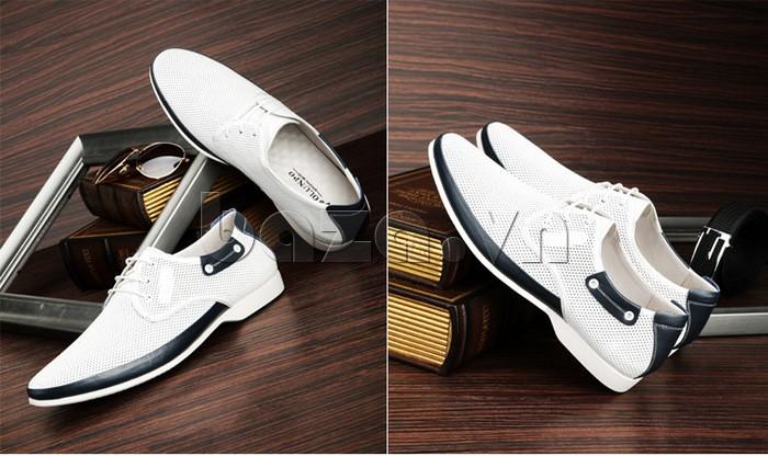 giày nam Olunpo XHT1402 màu trắng dễ gần