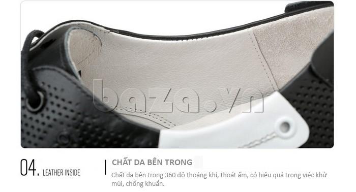 Chất liệu da bên trong của giày nam Olunpo XHT1402