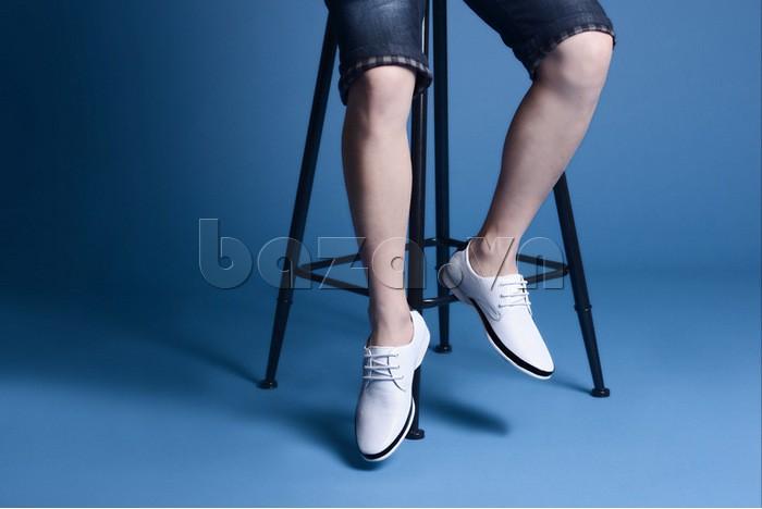 thời trang đi giày không tất với giày nam Olunpo XHT1402
