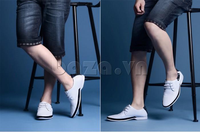 giày nam Olunpo XHT1402 là giày thể thao có thể không dùng tất