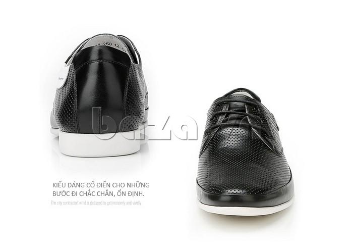giày nam Olunpo XHT1402 được thiết kế theo phong cách cổ điển giúp bước chân ổn định hơn