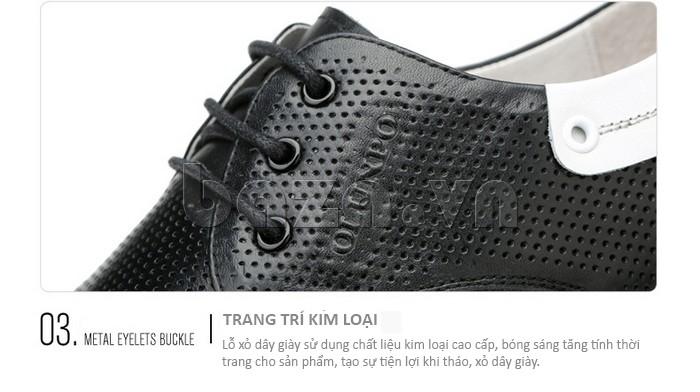 giày nam Olunpo XHT1402 được trang trí khóa kim loại\