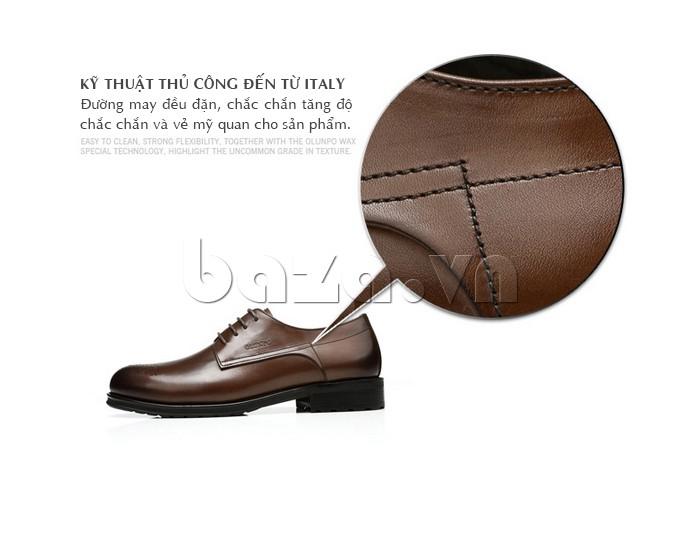 Giày nam Olunpo QHSL1307 làm từ kỹ thuật may thủ công của Ý