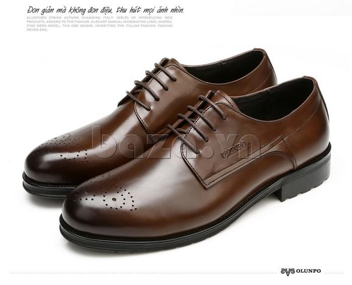 Giày nam Olunpo QHSL1307 đơn giản mà không đơn điệu