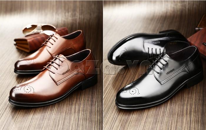 Giày nam Olunpo QHSL1307 giúp các quý ông tự tin thể hiện bản lĩnh của mình trước mặt nữ giới