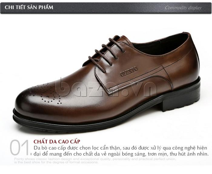 Chi tiết sản phẩm cụ thể của Giày nam Olunpo QHSL1307