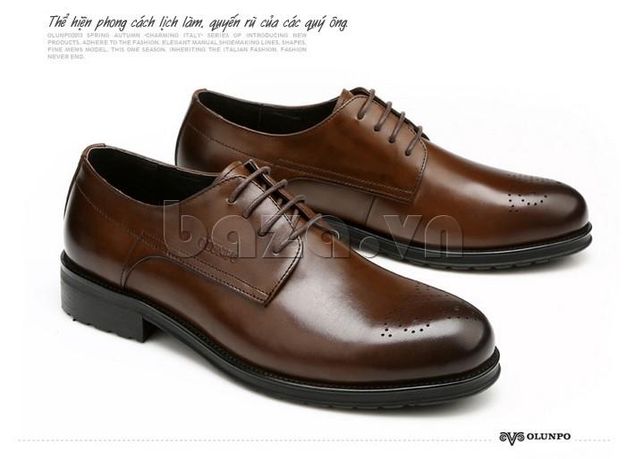 Giày nam Olunpo QHSL1307 thể hiện phong cách lịch lãm của các quý ông