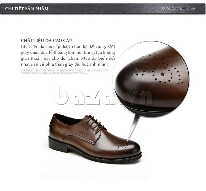 Giày nam Olunpo QHSL1307 được làm từ da cao cấp