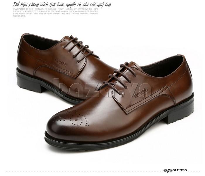 Giày nam Olunpo QHSL1307 thể hiện phong cách lịch lãm, quyến rũ