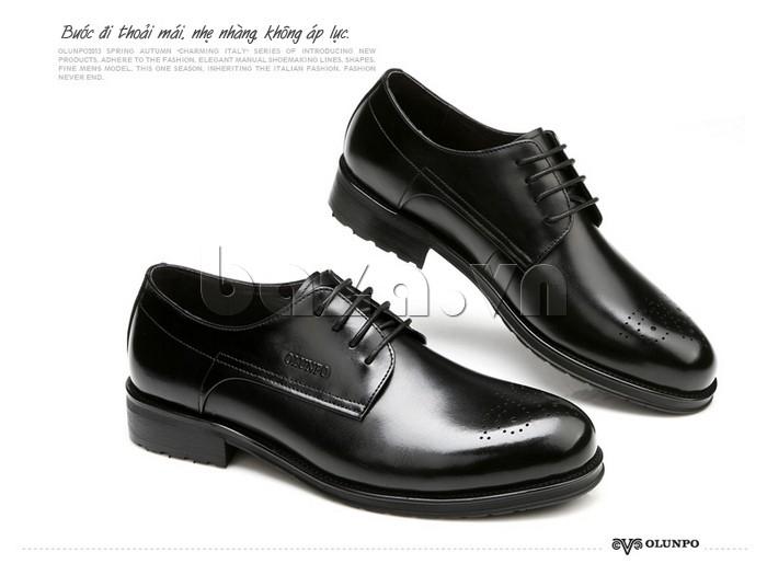 Giày nam Olunpo QHSL1307 giúp nam giới bước đi thoải mái, nhẹ nhàng, không áp lực