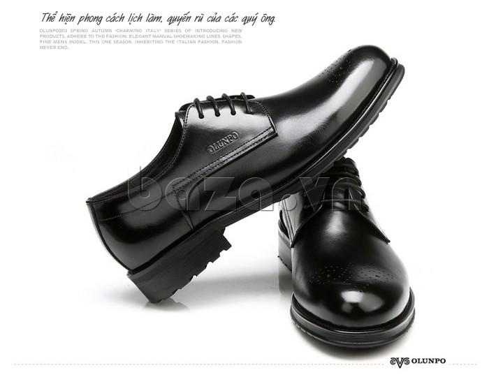 Giày nam Olunpo QHSL1307 thể hiện phong cách lịch lãm quyến rũ cho các quý ông