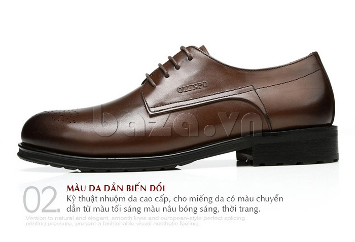 Giày nam Olunpo QHSL1307 màu da dần biến đổi