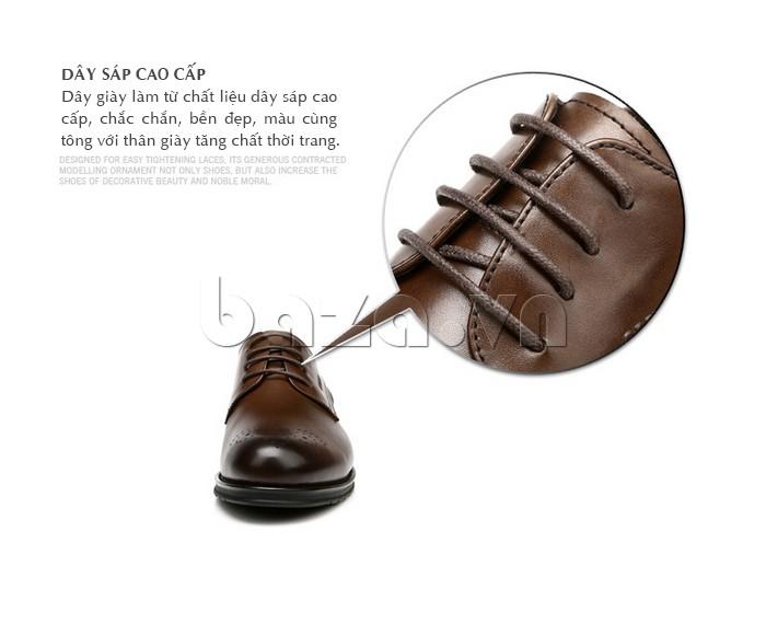 Giày nam Olunpo QHSL1307 dùng dây sáp cao cấp tạo sự chắc đẹp cho sản phẩm