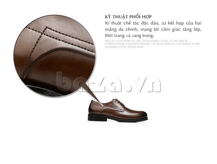Giày nam Olunpo QHSL1307 có kỹ thuật độc đáo