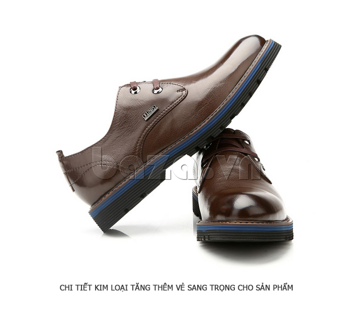 Giày da nam Olunpo QJY1405 mũi nhọn cổ điển