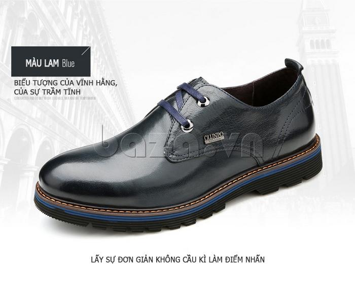 Giày da nam Olunpo QJY1405 màu đen huyền bí