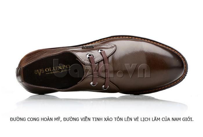 Giày da nam Olunpo QJY1405 đường cong hoàn mỹ