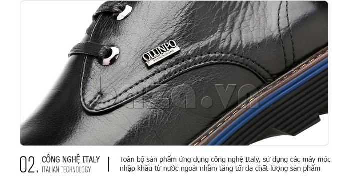 Giày da nam Olunpo QJY1405 thiết kế khuyên kim loại tinh tế