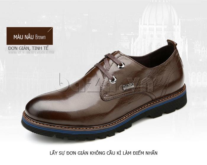 Giày da nam Olunpo QJY1405 màu nâu tinh tế