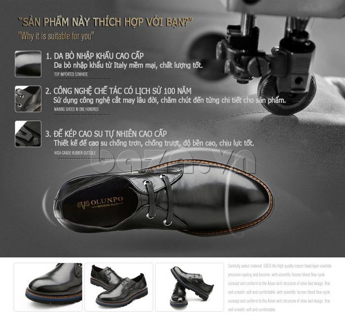 ưu điểm của Giày da nam Olunpo QJY1405