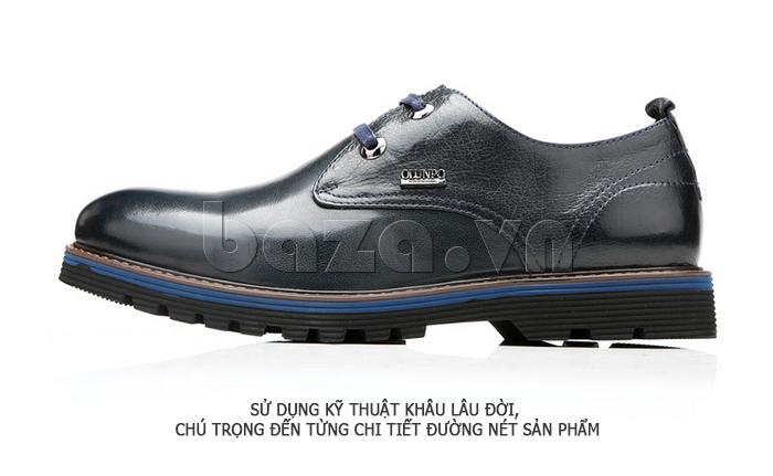 Giày da nam Olunpo QJY1405 thêm tinh tế cho nam giới