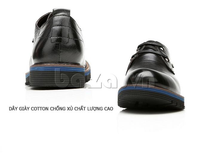 Giày da nam Olunpo QJY1405 dây giày cotton chống xù chất lượng cao