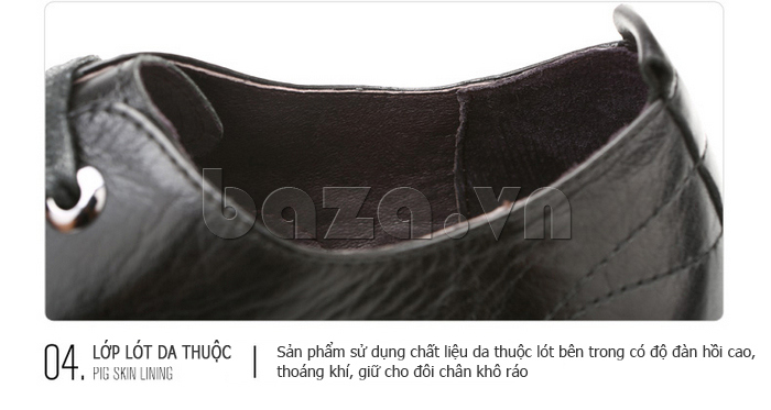 Giày da nam Olunpo QJY1405 làm từ lớp lót da lộn độc đáo