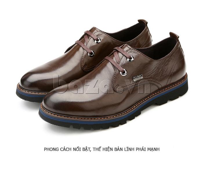 Giày da nam Olunpo QJY1405 màu nâu dễ phối đồ